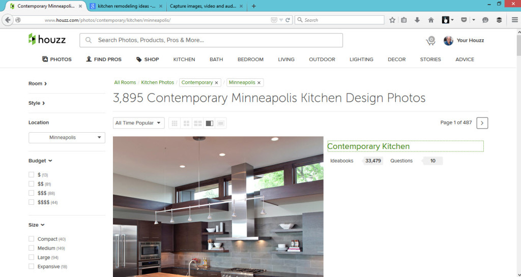 How to find local kitchen remodeling photos on Houzz